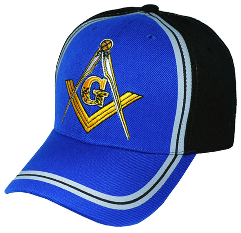 9f2b61e7 Blue and Black Mason Baseball Cap Masonic Emblem Hat for Freemasons  Shriners Masons Headwear