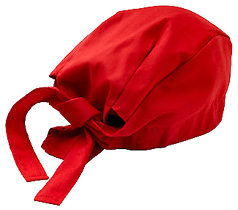 Chef Dorag Cap Cooks Hat Solid Red