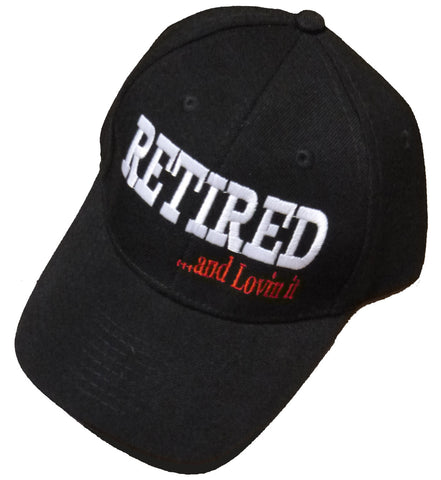 Retired and Loving It Black Baseball Cap Retiree Hat Retirement Party Headwear for Teachers Military Boss Family Co-Worker