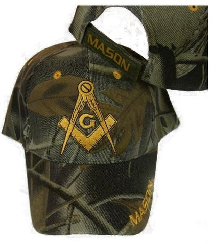 Mason Hat Camouflage Baseball Cap with Masonic Logo Freemasons Shriners Prince Hall Lodge Headwear