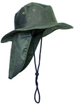 Safari Boonie Fishing Sun Hat Cotton Blend - Olive XL Extra Large X-Large