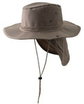 Safari Boonie Fishing Sun Hat Cotton Blend - Khaki XL Extra Large X-Large