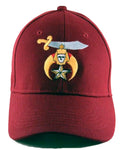 Shriner Hat Maroon Baseball Cap with Logo Associated with Freemasons Shriners Prince Hall Masons Lodge Headwear
