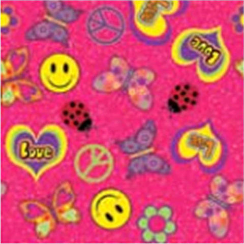 Tie Dye Bandana Hippie 60s Peace Sign Love Heart Butterfly Smiley Face Flowers Lady Bug
