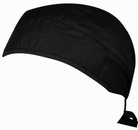 Black Surgical Scrub Cap w/ Sweatband MADE IN THE USA Doctors Surgeon Hat for Men Women