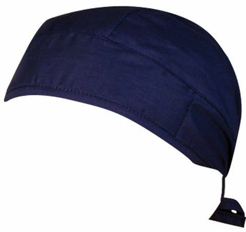 Navy Blue Surgical Scrub Cap w/ Sweatband MADE IN THE USA Doctors Surgeon Hat for Men Women