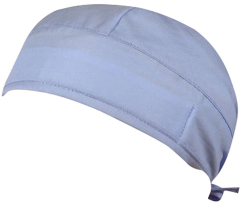 Light Blue Surgical Scrub Cap w/ Sweatband MADE IN THE USA Doctors Surgeon Hat for Men Women