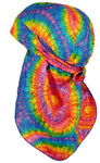 Tie Dye Doo Rag 1960s Rainbow Tye Die 60s Hippie Fun Woodstock MADE IN THE USA with SWEATBAND