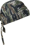 Camouflage Tiger Stripe Head Wrap Doo Rag Camo Durag Skull Cap Cotton Sporty Motorcycle Hat