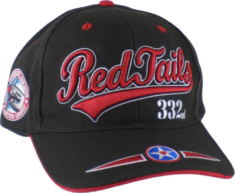 Red Tails Baseball Cap Tuskegee Airmen 332 Black History Air Force Hat BROWN