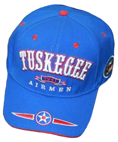 TUSKEGEE AIRMEN Baseball Cap Black History Air Force Hat Blue, White and Red