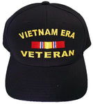 Vietnam ERA Veteran Baseball Cap Black Military Hat Vet