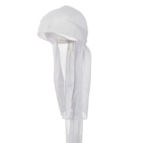 White Wave Cap Sexy Tie Down Durag Cap Cool Nylon Sporty and Fashionable Long and Short Hair