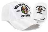Vietnam ERA Veteran Hat Military Baseball Cap, Mens Womens, White