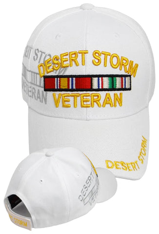 DESERT STORM White Baseball Cap Officially Licensed Hat Army Navy Air Force Marine