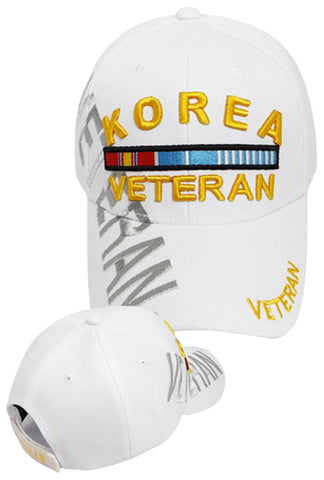 KOREA VETERAN WHITE BASEBALL CAP EMBROIDERED HAT ADJUSTABLE STRAP