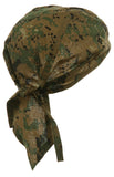 Camouflage ACU Woodland Digital Head Wrap Doo Rag Camo Durag Skull Cap Cotton Sporty Motorcycle Hat