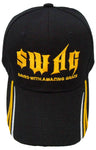 Christian SWAG, Baseball Cap, Save With Amazing Grace, Black Hat Adjustable Embroidered