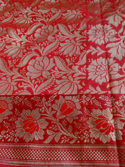 Banarasee/Banarasi Art Silk Sari -Purple & Red