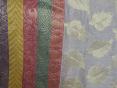 Banarasee/Banarasi Cotton Silk Mix Saree Leaf Motif Dhakai Weave-White