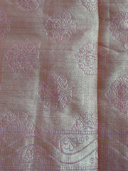 Banarasee/Banarasi Cotton Mix Saree Zari Buti Banyan Design Border-Pink