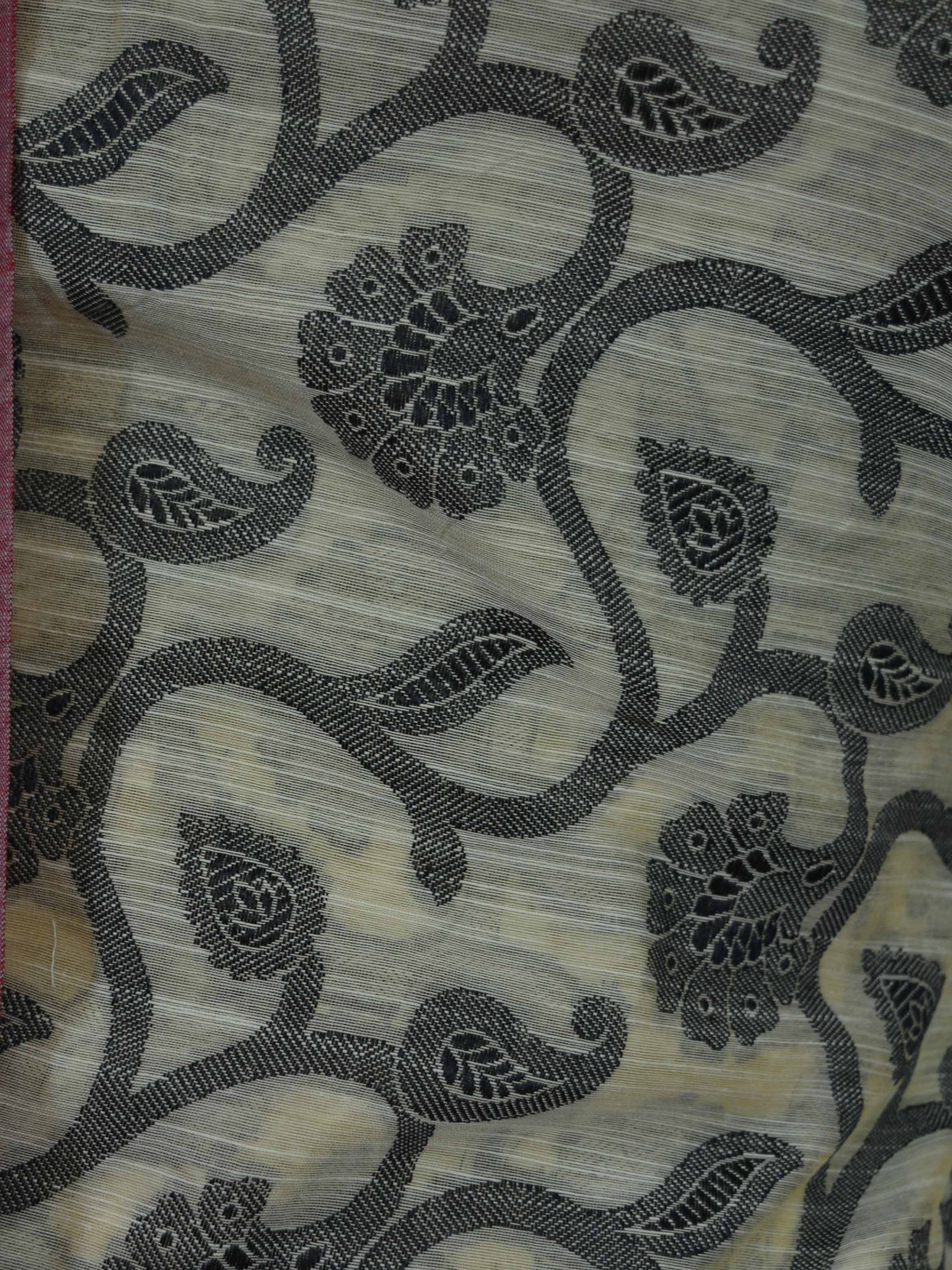 Banarasee/Banarasi Salwar Kameez Soft Cotton Resham Woven Fabric With Black Jaal Design-Beige