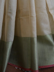 Banarasee/Banarasi Cotton Silk Mix Sari-Beige