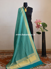 Banarasee Art Silk Dupatta With Polka Dot Design-Sea Green