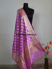 Banarasee Art Silk Dupatta Circle Buti Design-Mauve