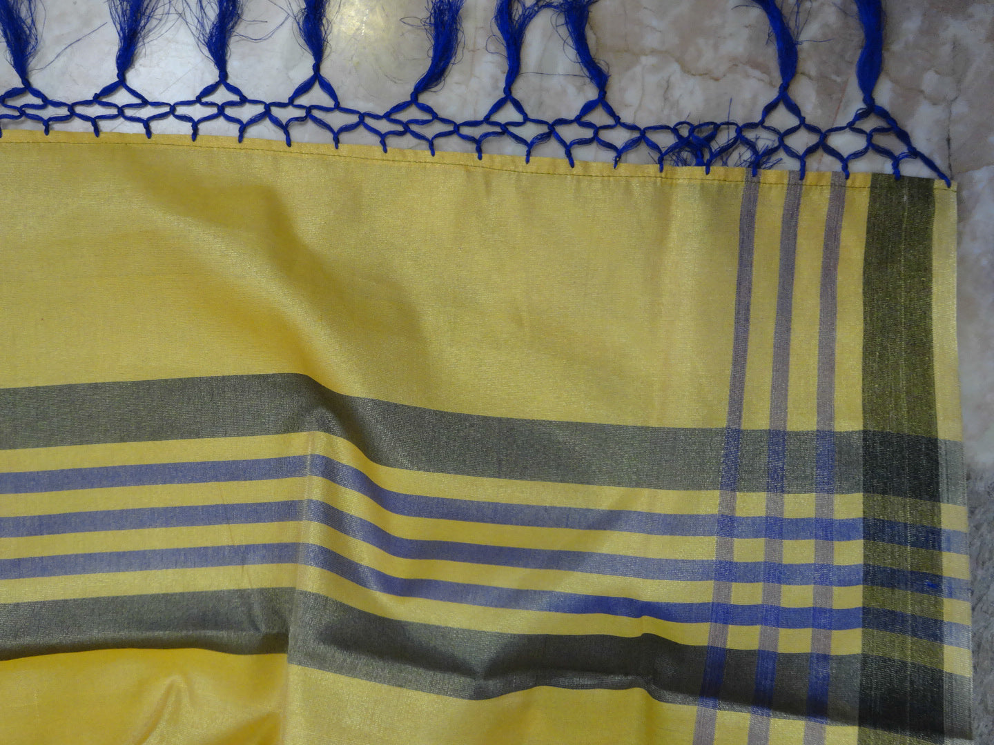 Banarasee Tissue Saree- Yellow