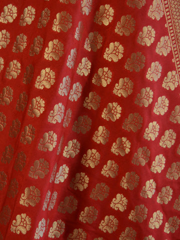 Banarasee Art Silk Buti Design-Red