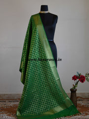 Banarasee Art Silk Dupatta Jaal Design-Green
