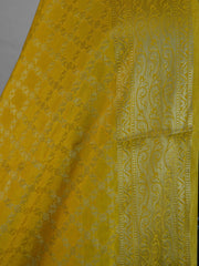 Banarasee Art Silk Dupatta Jaal Design-Yellow