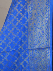 Banarasee Art Silk Dupatta Jaal Design-Blue