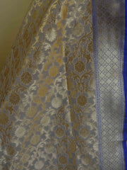 Banarasee Art Silk Dupatta Jaal Design-Off White