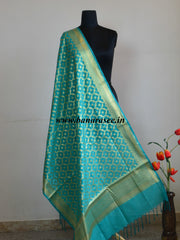 Art Silk Dupatta Jaal Design Design-Sea Green