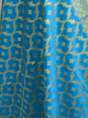 Art Silk Dupatta Jaal Design Design-Blue