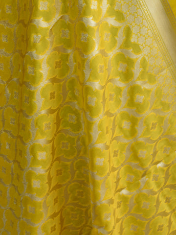 Art Silk Dupatta Jaal Design Design-Yellow