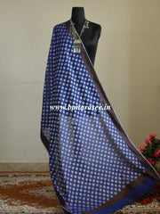 Banarasee Cotton Silk Resham Work Dupatta-Deep Blue