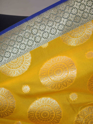Banarasee Art Silk Dupatta Big Buta Design-Yellow