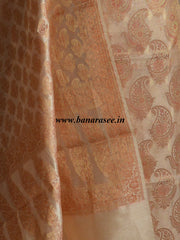 Banarasee/Banarasi Salwar Kameez Cotton Silk Zari Buti Woven Fabric-Gold