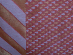 Banarasee/Banarasi Pure Handloom Cotton Silk Jamdani Sari With Zari Weaving-Peach