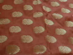 Banarasee/Banarasi Handwoven Art Silk Unstitched Lehenga & Blouse Fabric-Peach