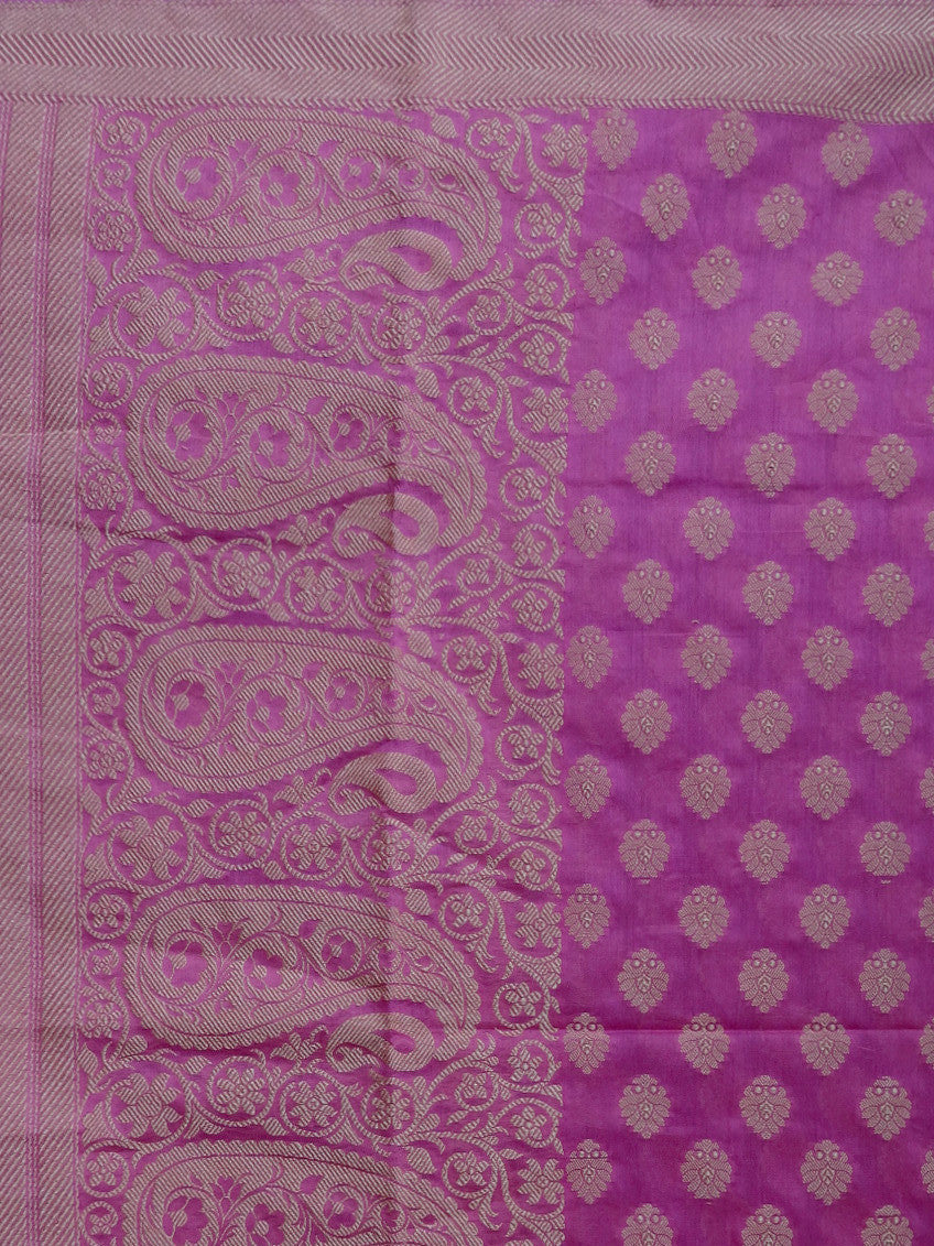 Banarasee/ Banarasi Cotton Silk Mix Resham Work Dupatta-Mauve