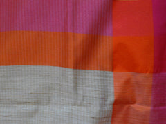 Banarasee/Banarasi Cotton Silk Mix Sari With Khadi Saree With Contrast Border-Red Border