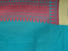 Banarasee/Banarasi Cotton Silk Mix With Resham Booti-Green