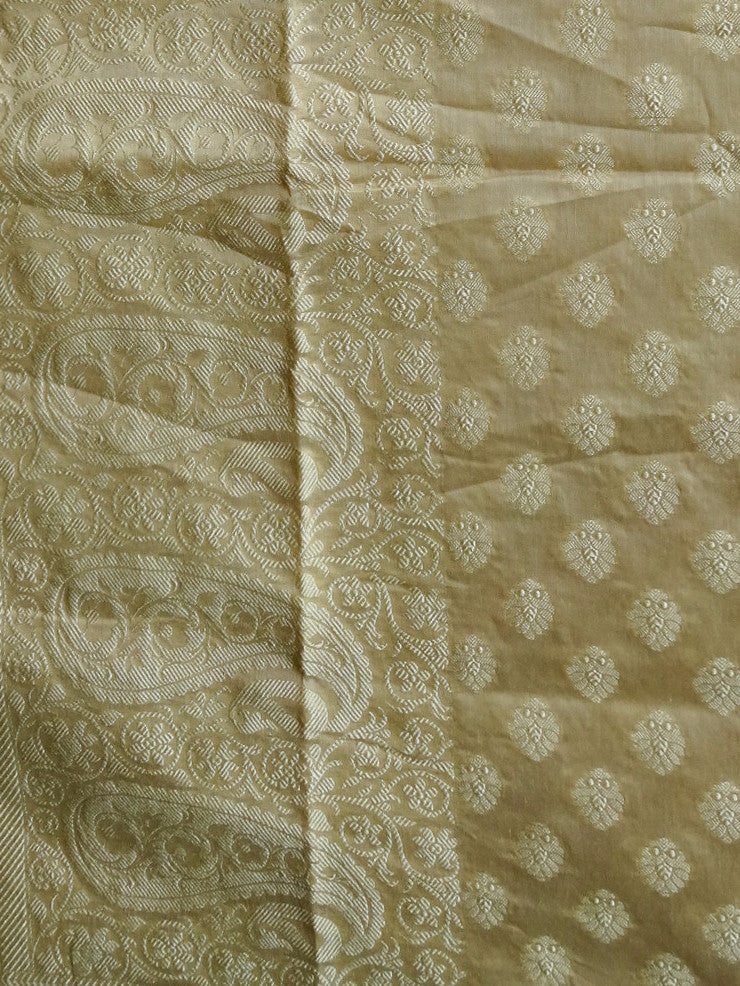 Banarasee/ Banarasi Cotton Silk Mix Resham Work Dupatta-Off White