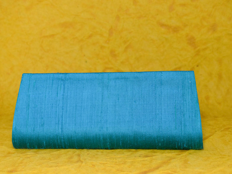 Turquoise Blue Art Silk Clutch Bag