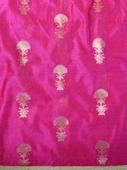Banarasee Pure Chanderi Silk Zari Buti Salwar Kameez Set-Pink & Orange