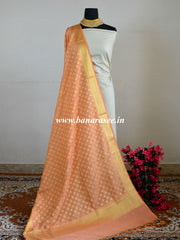 Banarasee Art Silk Gold Buti Design Dupatta-Coral